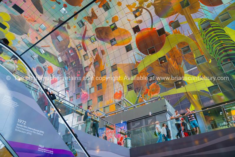 Rotterdam Market ceiling mural