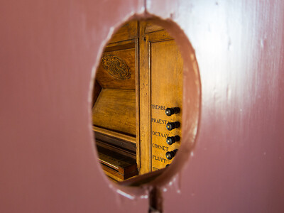 The organ inside Our Lord in the Attic.