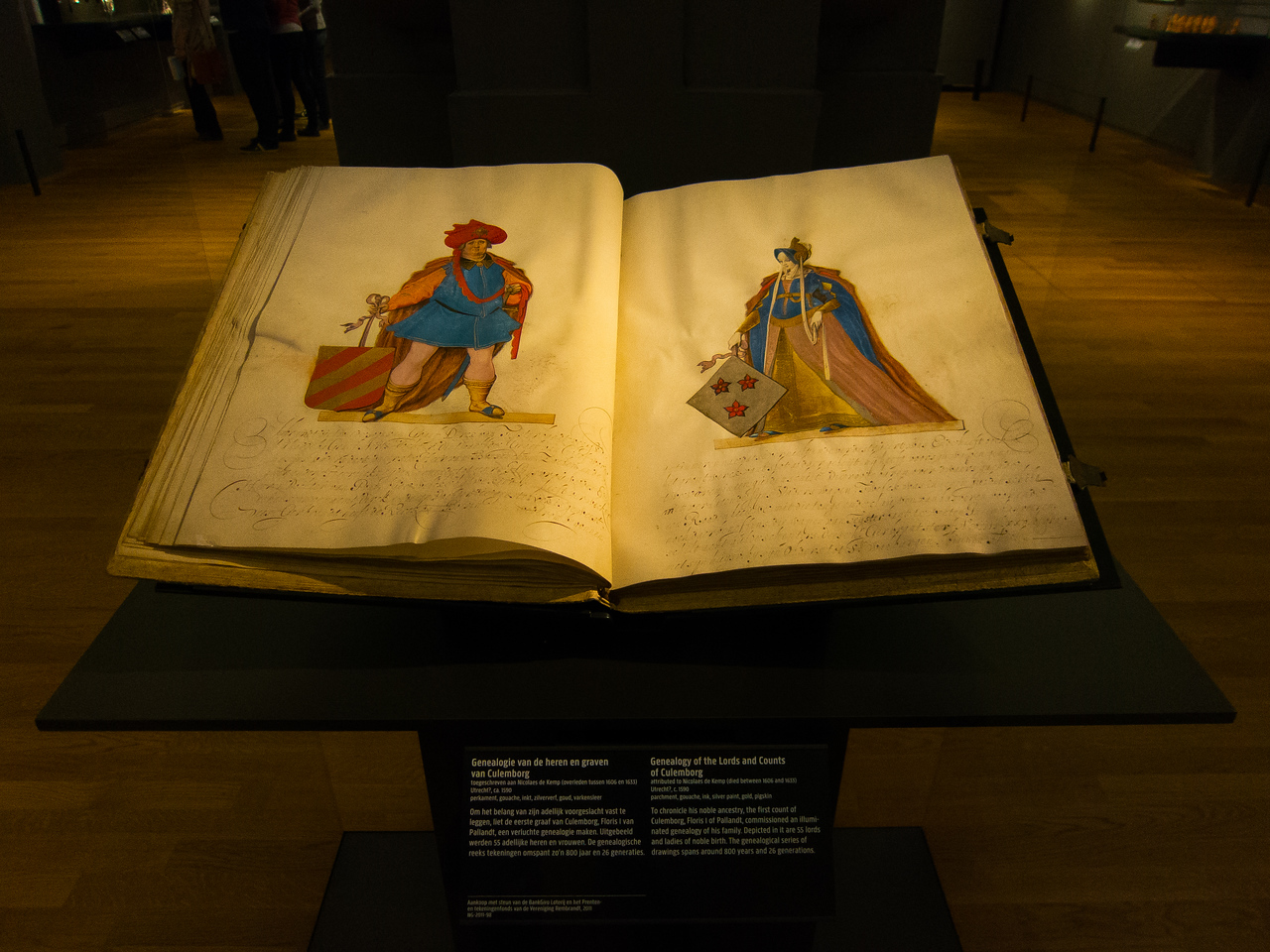 An illustrated geneology of the Lords and Counts of Culemborg with 26 generations spanning 800 years at the Rijksmuseum. I'm still working on mine...