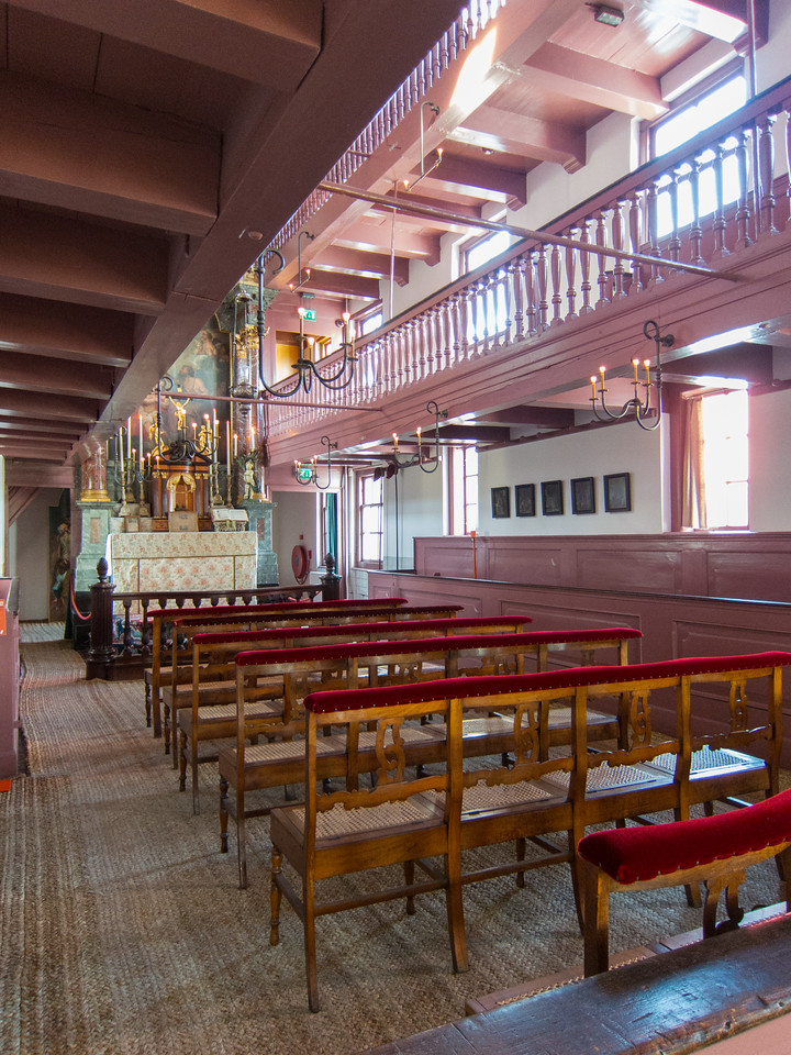 """The sanctuary inside """"Our Lord in the Attic"""" - a hidden Catholic church from the era when Catholocism was illegal in Holland."""
