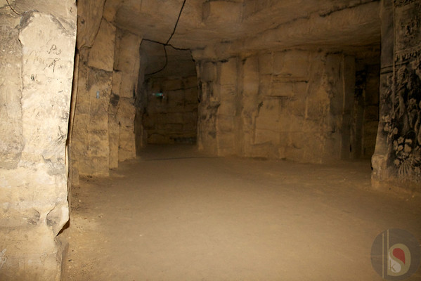 world war 2 bunker at valkenburg caves - small town in holland - netherland