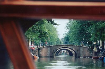 Bridge arches Amsterdam Holland - Jul 1996