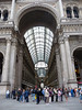 The Galleria Vittorio Emanuele II, a large, covered arcade linking the Duomo's (Cathedral's) piazza with the Teatro alla Scala.