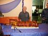 The porchetta guy ... ready to serve up at the Medieval Feast at Casale Santa Brigida.