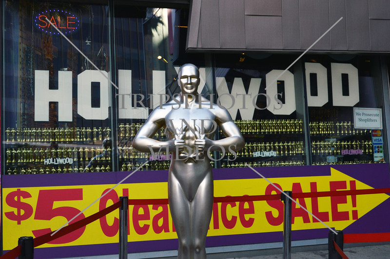 Statue at the Hollywood Walk of Fame in Hollywood, California.