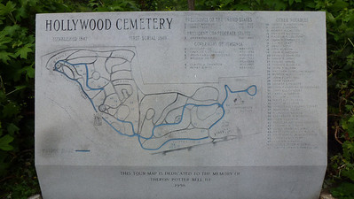 The map of the Hollywood Cemetery