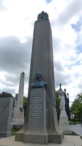 President John Tyler's grave marker.