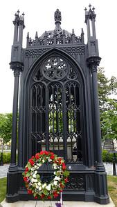 President James Monroe's grave marker.