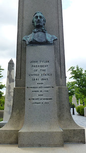 A close-up of President John Tyler's grave.