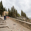 Walking up the hill to the Church of the Visitation, Ein Kerem