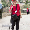 Jan smiles while walking up the hill to the Church of the Visitation, Ein Kerem