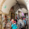 Muslim Quarter streets on the way to the start of the Via Dolorosa