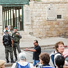 Israeli soldiers near the Lions Gate