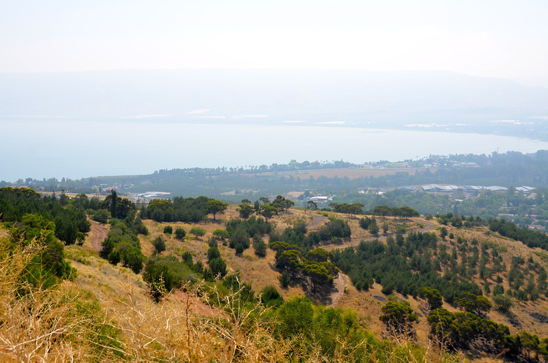 First sighting of the Sea of Galilee in Israel