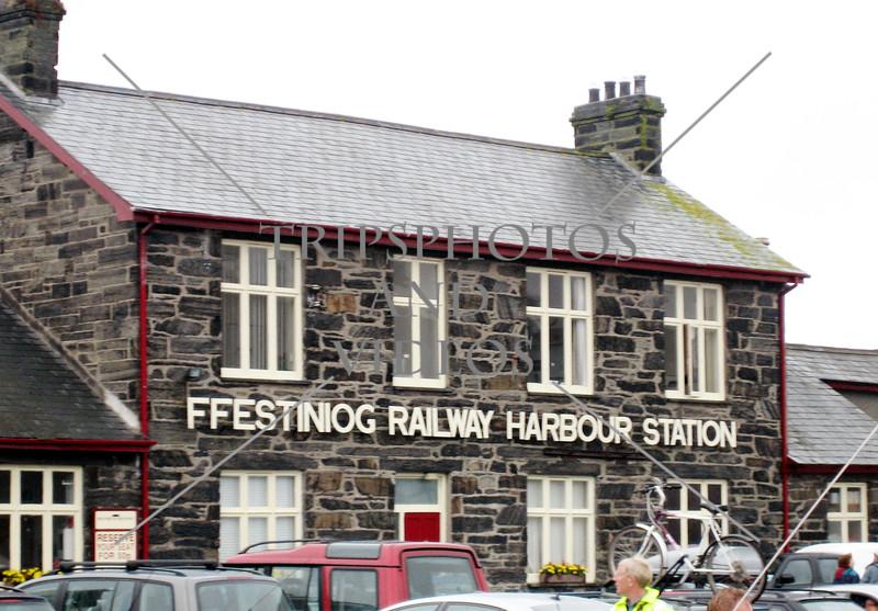 Railway station  in Wales, United Kingdom.