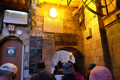 9th Station - Entering the Church of the Holy Sepulchre after the 9th station.