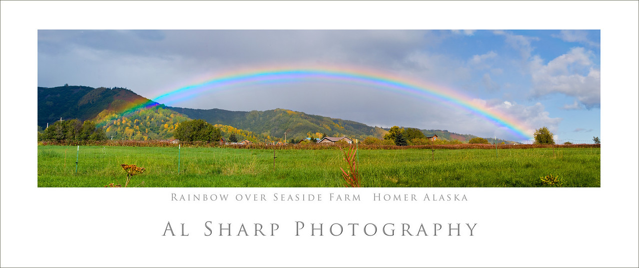 Rainbow over Seaside Farm, Homer Alaska    Late September 2008