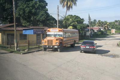 Ever wonder where the old school busses from the US go when they are retired? Central America. These busses are used for public transit throughout the region and were our main transportation for the week.