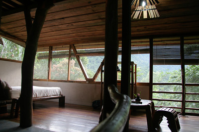 The first floor bedroom of our lodge overlooking the Pico Bonito National Park near La Ceiba, Honduras. I forgot to get a picture of the penthouse suite.