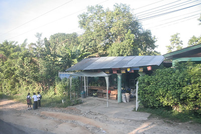 A typical pulperia on the side of the road from Tela back to the airport in San Pedro Sula.