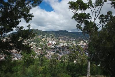 View of Tegucigalpa, Honduras from Peace Monument