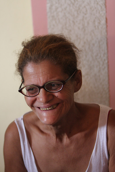 For many years she basically couldn't see two inches beyond the end of her nose.