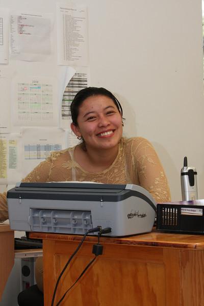 One of the office secretaries.