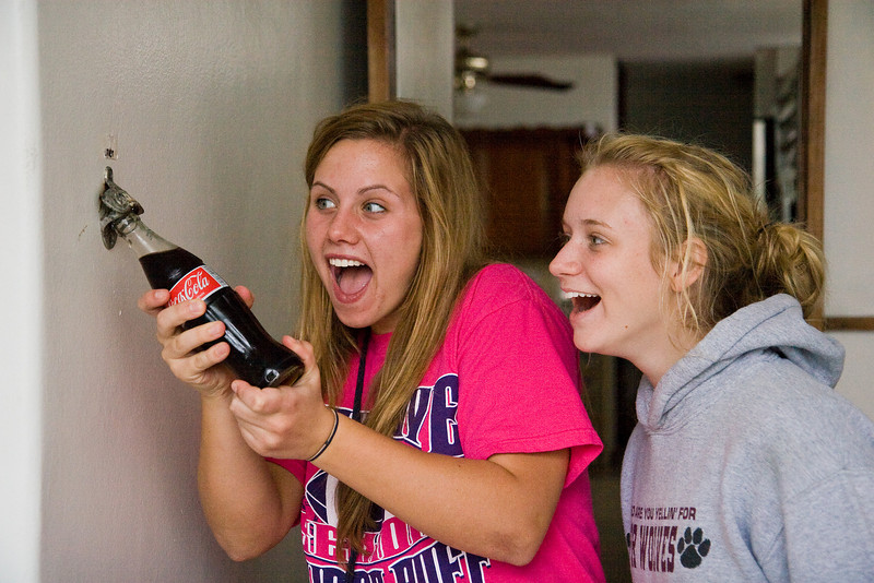 Kristen and Lauren meet the high-tech, wall-mounted, wireless, low-wattage bottle opener.