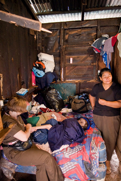 I need to fill in more of this story, but the woman on the left -- one of the team members -- came to the house expecting to find this little boy to have been poorly cared for. That evening, she tearfully related how wonderfully cared for and loved he obviously was and how much SHE learned from the experience.
