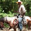 a local cabajero at Finca el Cisne, Copán Ruinas, Copán, Honduras, C.A.