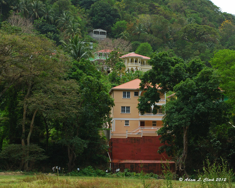 Houses on the hillside near the retreat