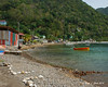 The shoreline in Soufriere