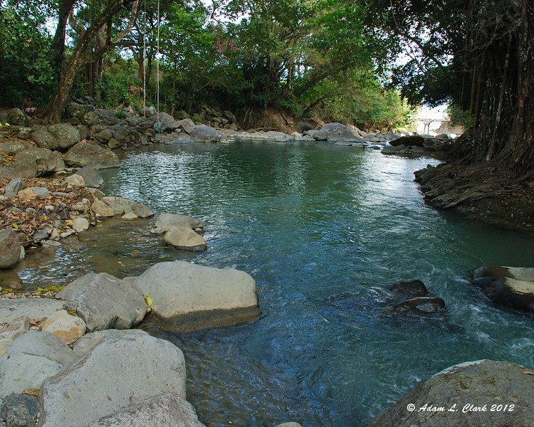 A nice pool for swimming in the White River