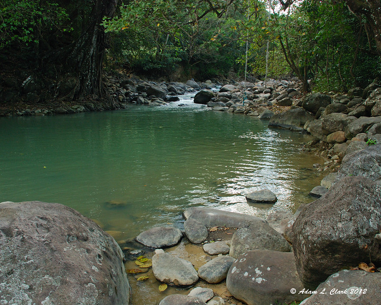 The swimming pool in the White River