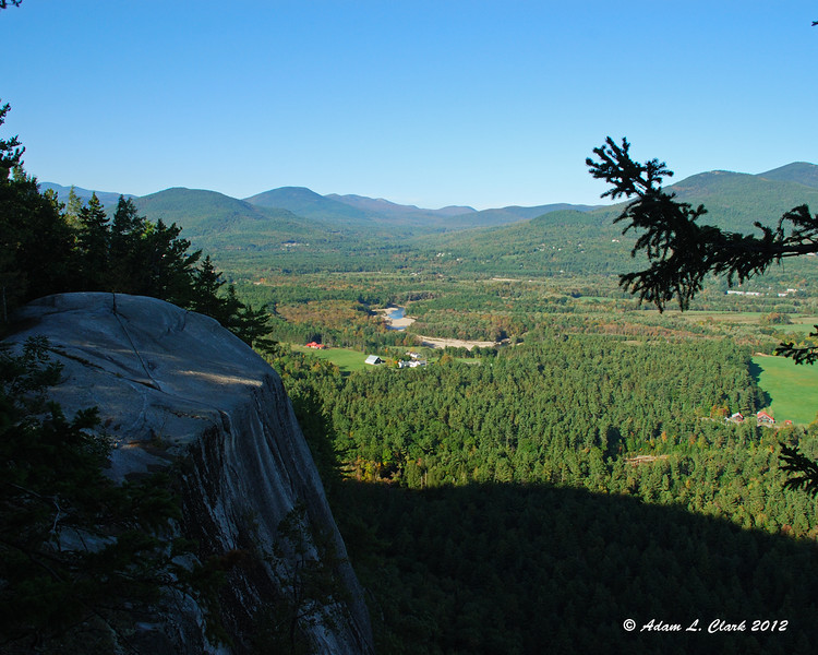 View North from the top of the ledge towards Thorn Mountain and Mt. Doublehead
