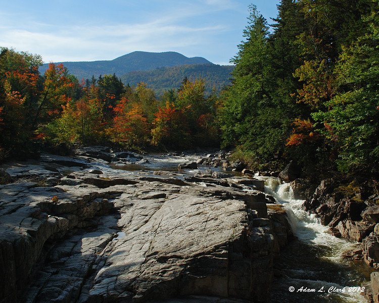 The falls with Mt Chocorua behind