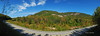 Panoramic view from along the Kancamagus Highway