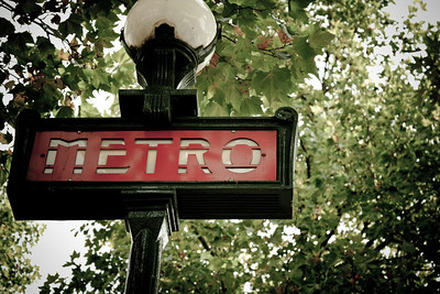 Metro sign at Abbesses