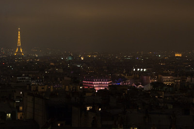 Eiffel Tower and Arc de Triomphe from our hotel