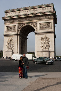 Crystal & Ken at Arc de Triomphe
