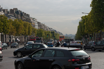 Looking towards the Louvre from the Arc de Triomphe