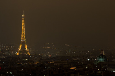 Nighttime view from our hotel window.  First night in Paris.