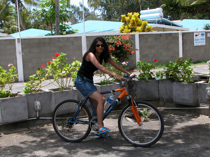 It was Christmas Day in Mauritius and we decided to go for a bike ride...
