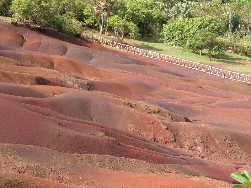 This 7-colored earth resulted from volcanic eruptions years ago. As things cooled, the colors set in.