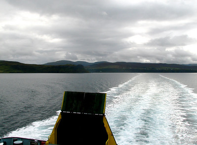 Ferry from Skye, North Uist, Ben Becula, and South Uist