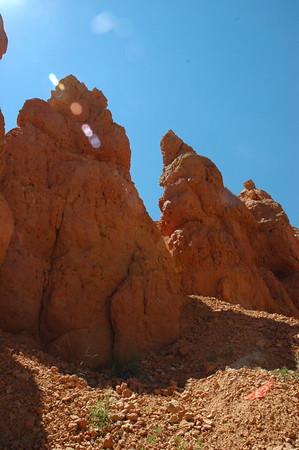 More orange pink rocks.