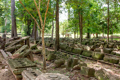 Many parts of the temple are organized here after the collapse.  They often run out of money in the rebuilding process.