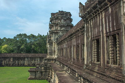the northern gate to the main temple of Angkor Wat.
