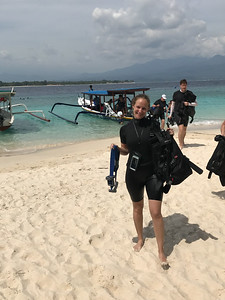 She saw turtles on her dive!!!