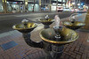 Interesting water fountain in the streets of Portland